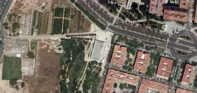 """Imagen satelital de Espai Rambleta que responde a las coordenadas """"39°26'56.8""""N 0°23'27.6""""W. Fotografía cortesía de Espai Rambleta."""