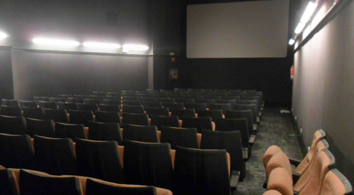 Una de las salas de Aragó Cinema, a una semana de su reapertura.