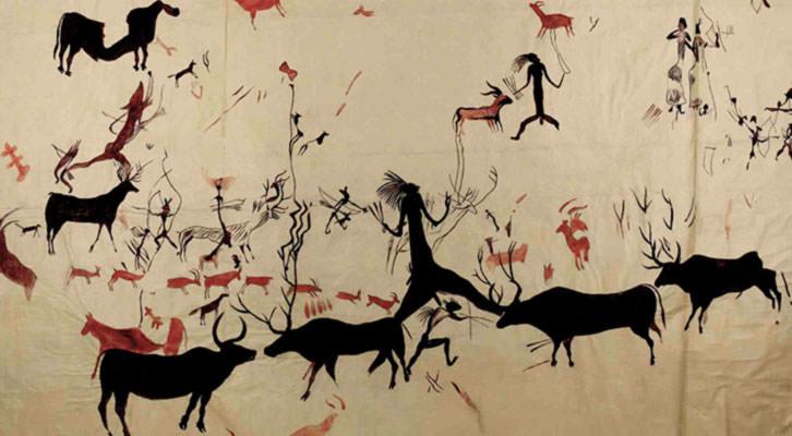 Arte rupestre. Museo Nacional de Ciencias Naturales.