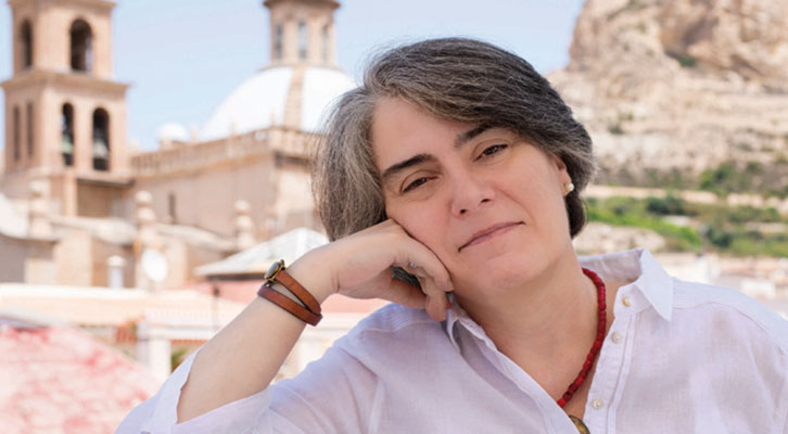 Matilde Asensi. Fotografía de Carlos Ruiz.