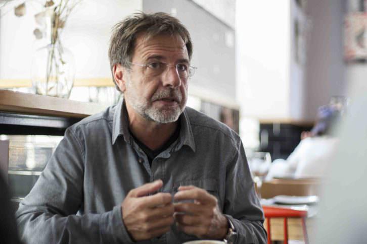 Manolo Bañó, durante un instante de la conversación con Makma. Fotografía: Fernando Ruiz.