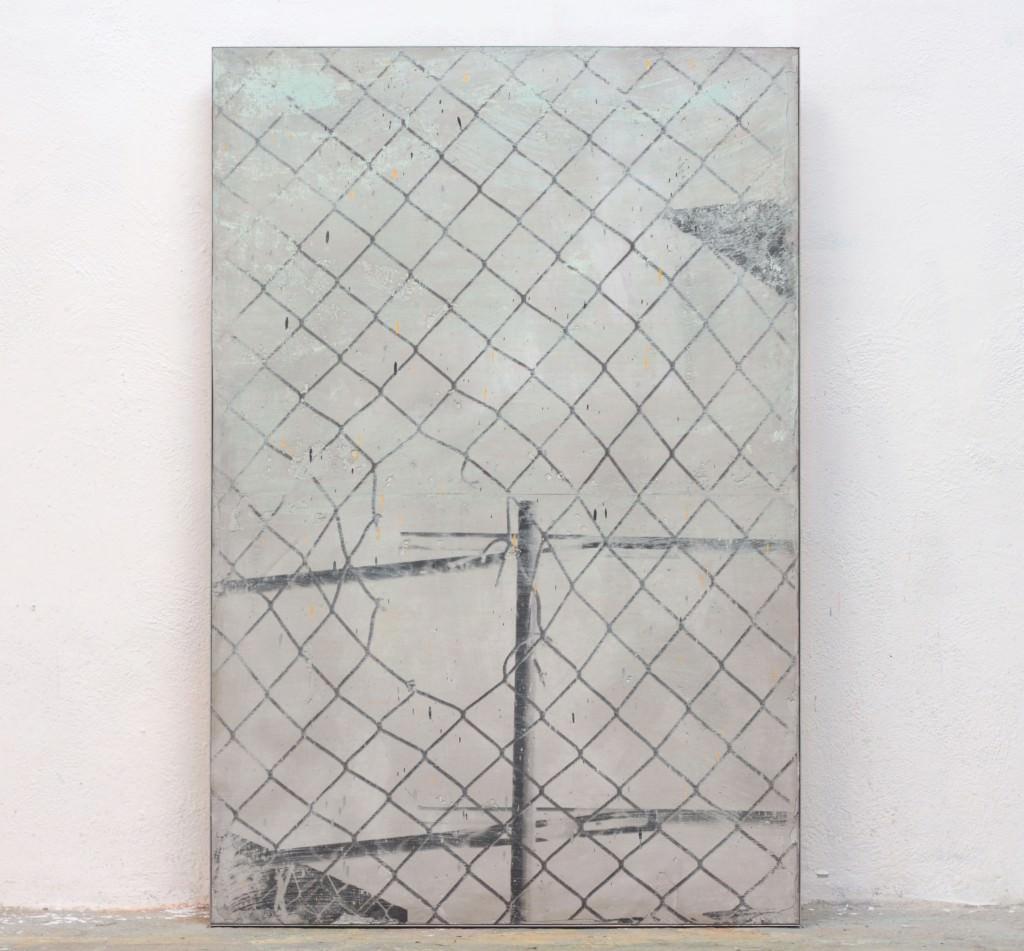 Broken Web-2015. Cemento, fotografía y acrílico. 120x80. Keke Vilabelda