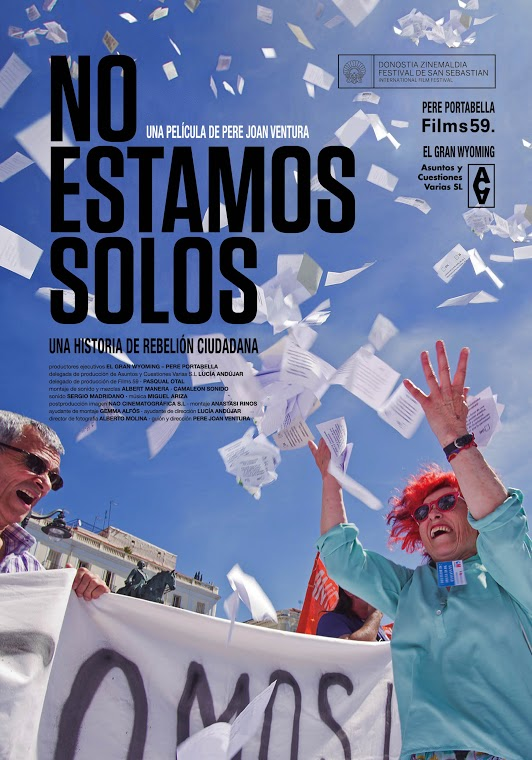Cartel del documental 'No estamos solos'. Teatre El Musical.