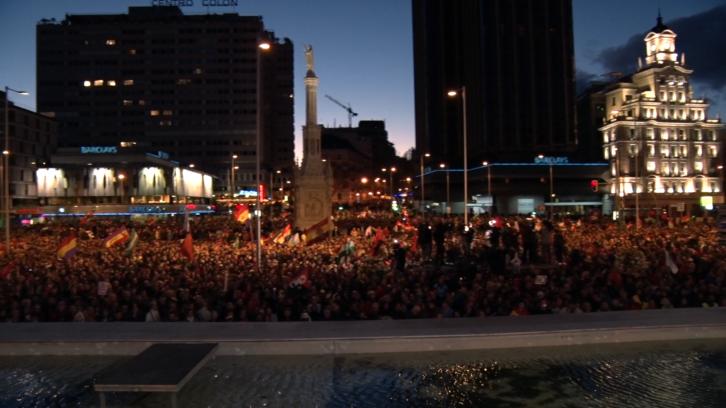 Cocentració en Colón el 22M