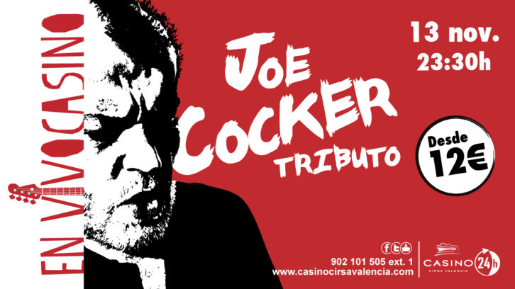 Cartel del Concierto Tributo a Joe Cocker. Casino Cirsa Valencia.