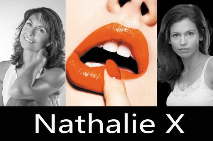 Cartel promocional de Nathalie X. Cortesía de Teatro Talía.