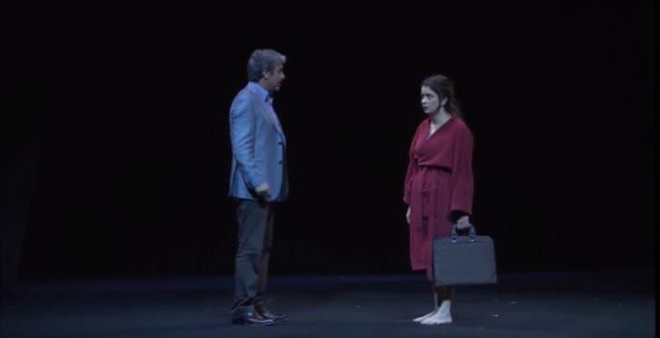Ricardo Darín y Érica Rivas en 'Escenas de la vida conyugal'. Teatro Olympia de Valencia.