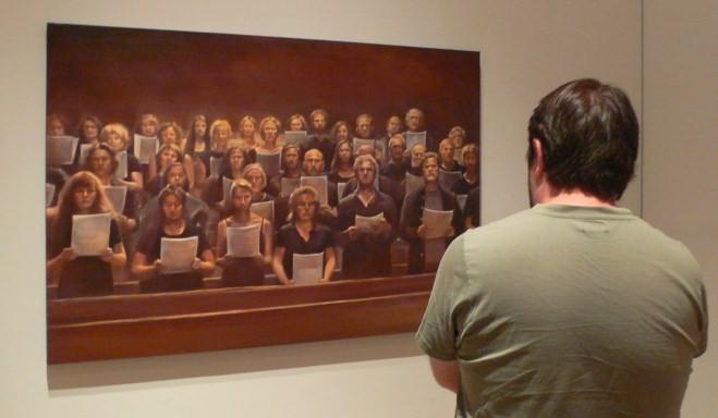 """""""El coro"""", de Mery Sales. De """"El incendio y la palabra. Imagen Vicente Chambó."""