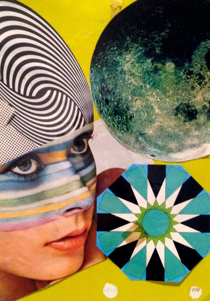 Imagen de detalle del collage 'El SER de la galaxias'. Fotografía: Merche Medina.