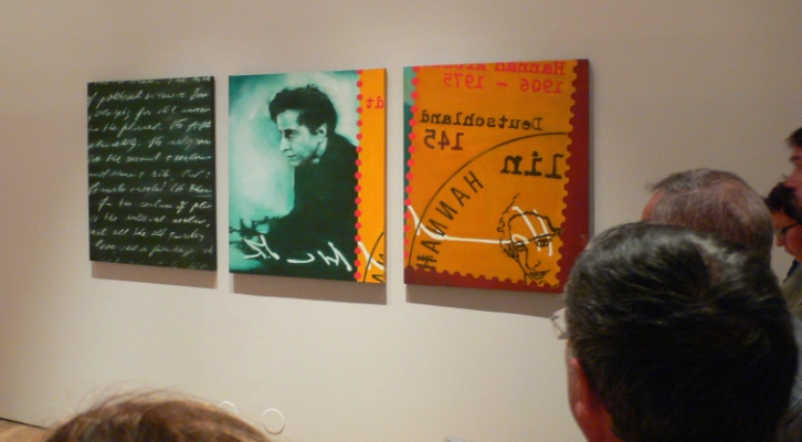 """Detalle de """"El incendio y la palabra"""" de Mery Sales. Imagen Vicente Chambó."""
