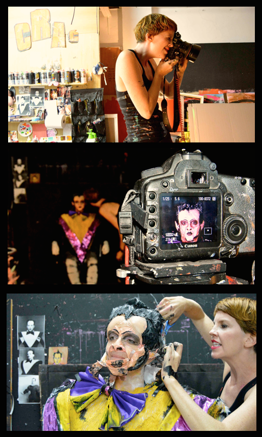 Diversos instantes del proceso de su Cirugía sobre Klaus Nomi. Fotografía: Jose Ramón Alarcón.
