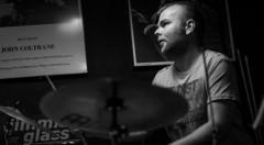 El baterista valenciano Miquel Asensio. Fotografía de Antonio Porcar cortesía de Jimmy Glass.