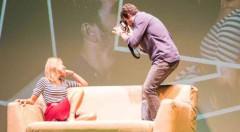 Escena de Pieza inconclusa, de Mario Rochman. Imagen cortesía de Teatro Talía.