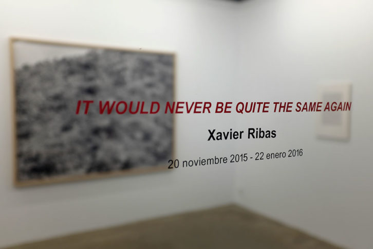 Imagen de la exposición It Would Never Be Quite The Same Again, de Xavier Ribas, cortesía de Espaivisor.