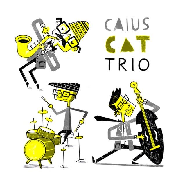 caricatura del grup que ve en el cd