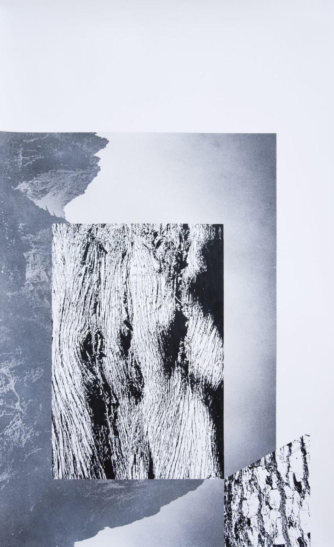 Ángel Masip. S/T (Serie Meteorismo), 2013. Tinta pigmentada y spray sobre papel. Marco-caja de pino, 115x70/125x80 cm. Cortesía pazYcomedias.
