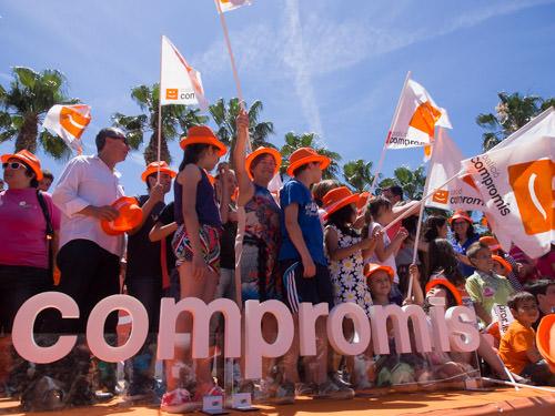 Mitin de Compromis en el Parque de Cabecera en mayo de 2015. Fotografía: Gala Font de Mora.