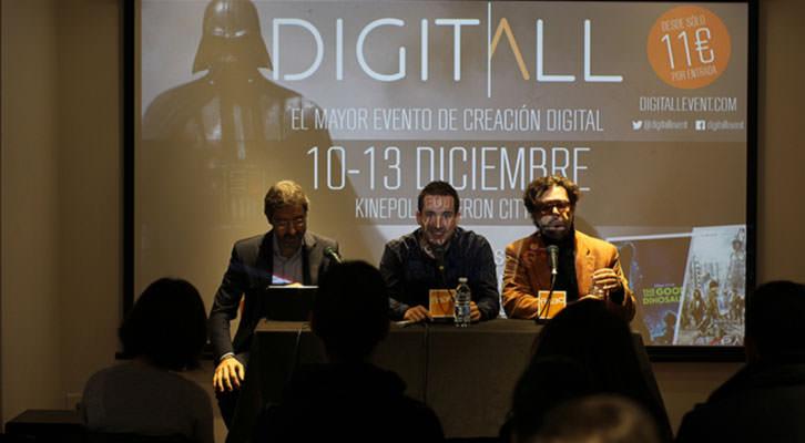 De izquierda a derecha, Jaime Torres, Javier Ortizá y Rafael Monterde, durante la presentación de Digitall en la FNAC de Valencia. Imagen cortesía de la organización.