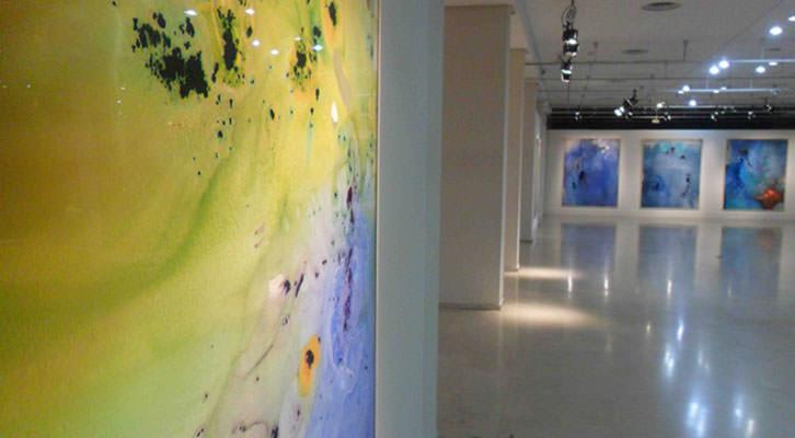 Vista de la exposición de Cristina Gamón en el Palau de la Música.