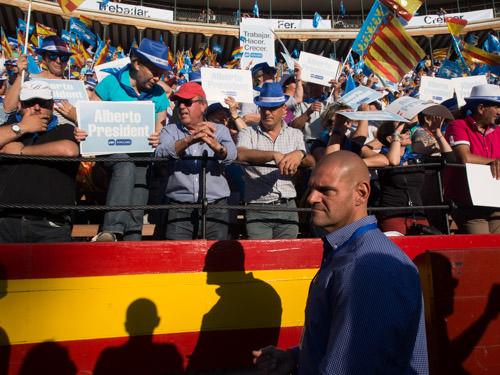 Mitin del PP en la Plaza de Toros de Valencia en mayo de 2015.