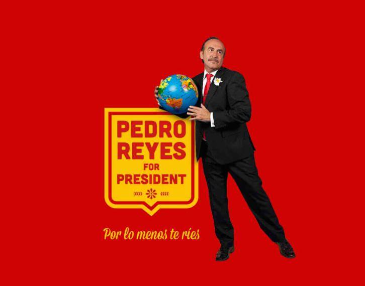 Cartel de la webserie Pedro Reyes for President. Imagen cortesía de El Hombre Bala Producciones.