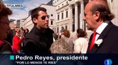 Fotograma de la webserie Pedro Reyes for President. Imagen cortesía de El Hombre Bala Producciones.