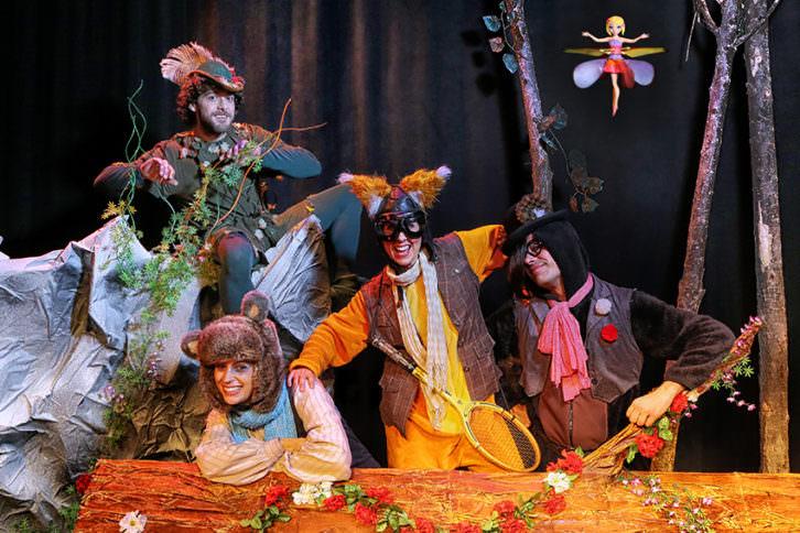 Peter Pan. Imagen cortesía de Teatre Flumen.