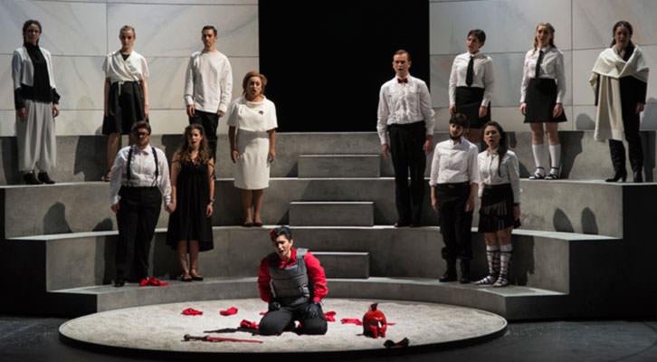 Escena de la ópera Silla, de Hándel. Imagen cortesía de Les Arts.