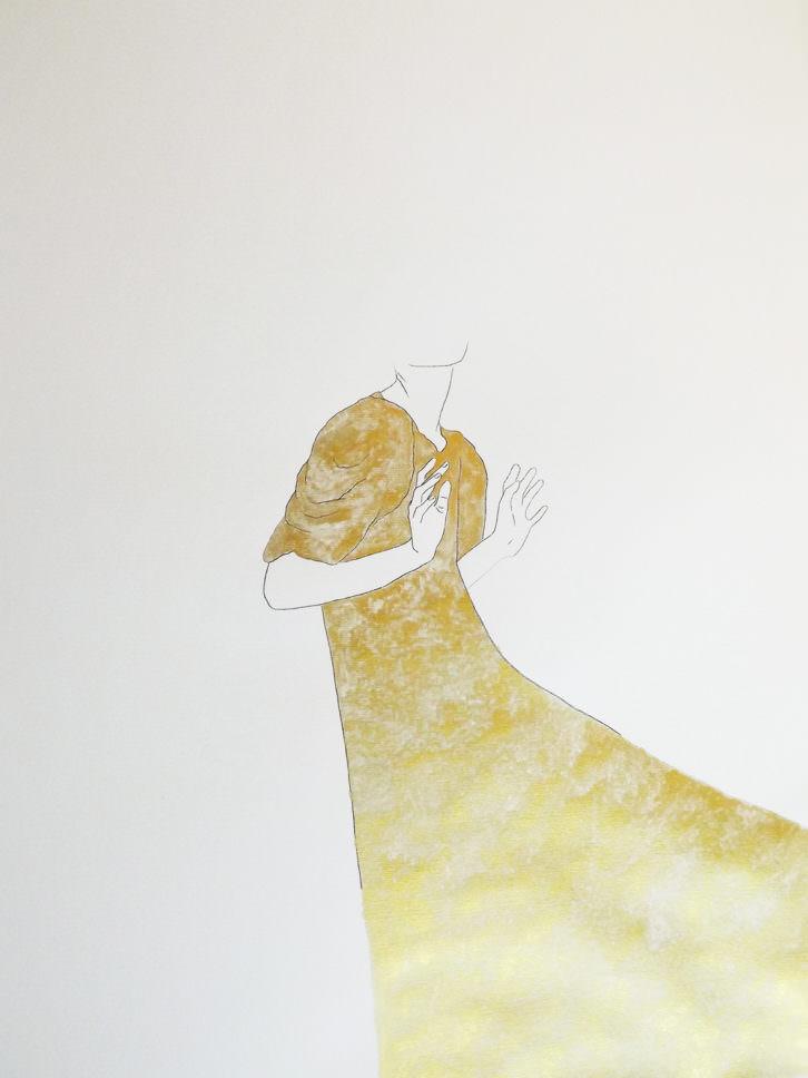 La señora Miller, de Estefanía Martín Sáenz, ganadora del I Premio de Dibujo DKV-MAKMA. Imagen cortesía de la artista.