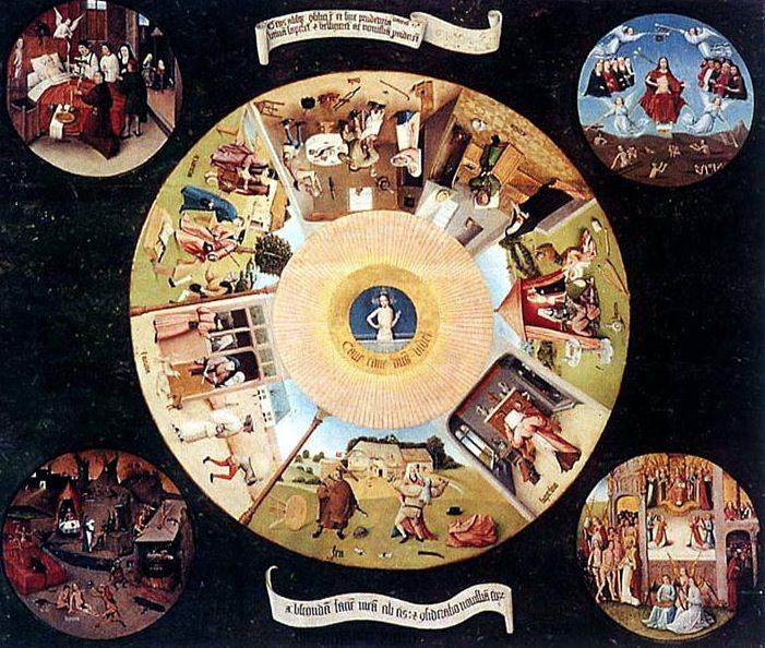 La mesa de los siete pecados capitales de El Bosco. Proyecto 3CMCV del Consorcio de Museos.