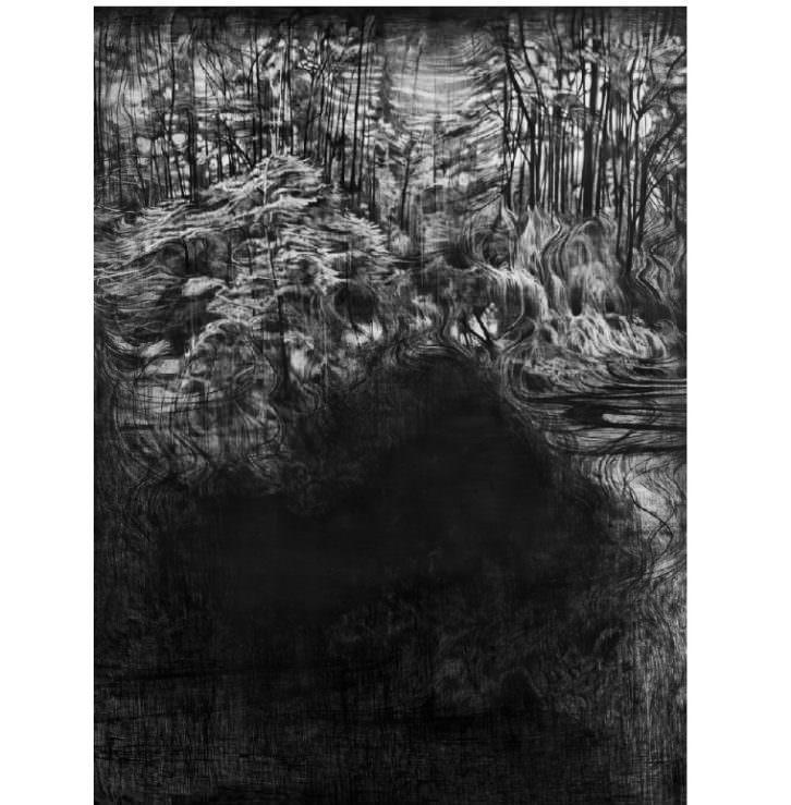 Obra perteneciente a la exposición On Paper. Imagen cortesía de Área 72.