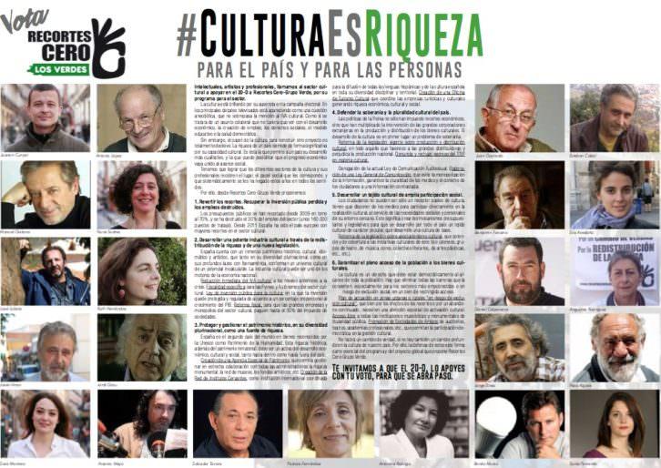Imagen promocional del Manifiesto #CulturaEsRiqueza.