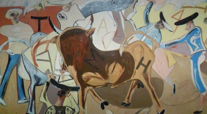 Obra de Juan Barjola, de la Colección AENA, en el Centro del Carmen.