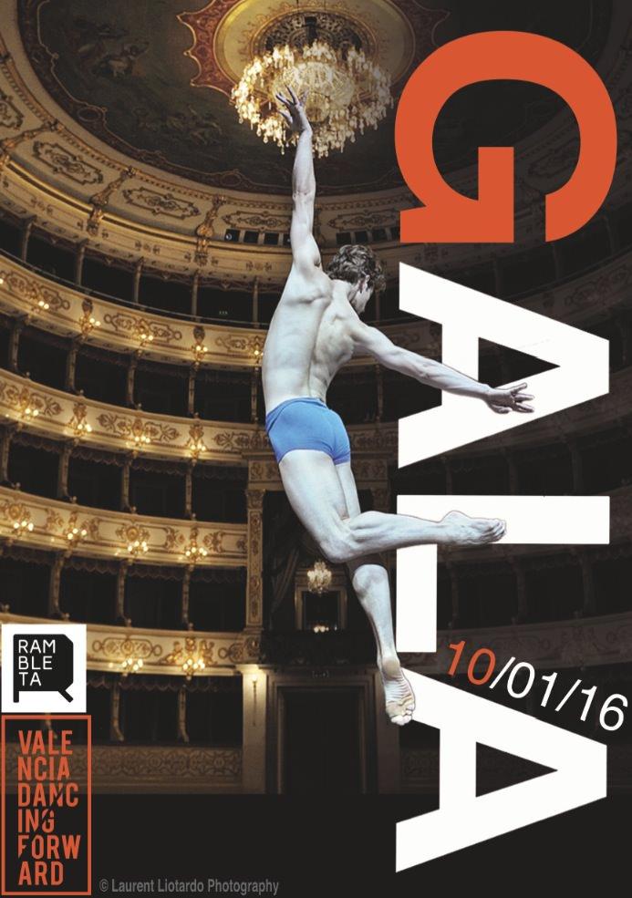 Cartel de la Gala de Presentación de Valencia Dancing Forward. Imagen cortesía de los organizadores.