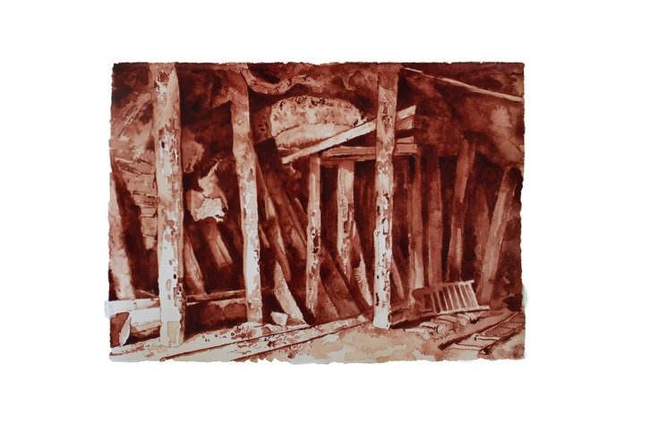 Dibujo de Javier Arce. Imagen cortesía de Galería Siboney.