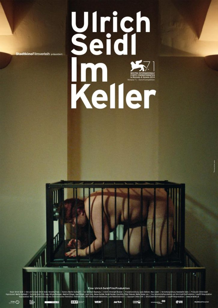 Cartel de la película 'En el sótano', de Ulrich Seidl. Imagen cortesía de La Filmoteca de CulturArts.