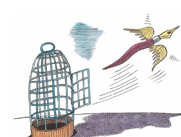 Ilustración de Krauze. Institut Français de Valencia.