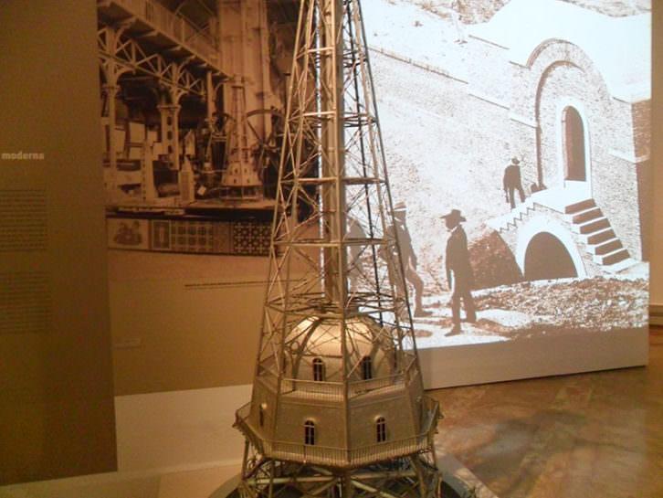 Imagen de la exposición sobre Lucio del Valle en La Nau de la Universitat de València.