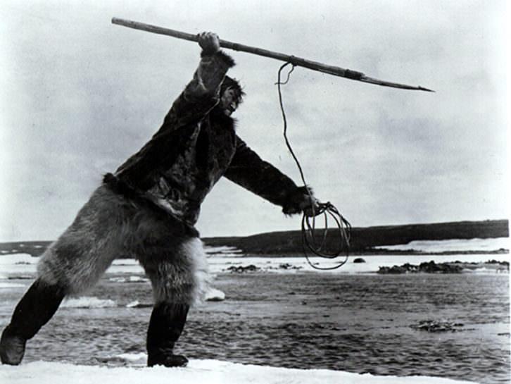 Fotograma de Nanuk el esquimal de Robert Flaherty. Imagen cortesía de Filmoteca de CulturArts IVAC.