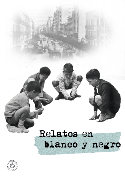 Portada de Relatos en blanco y negro. Generación Bibliocafé.
