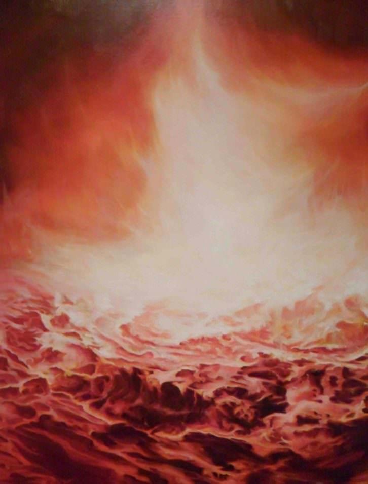 Obra de Mery Sales en 'el incendio y la palabra'. La Nau de la Universitat de València.