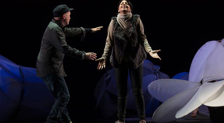 Samson et Dalila, por La Fura dels Baus. Imagen cortesía del Palau de Les Arts.