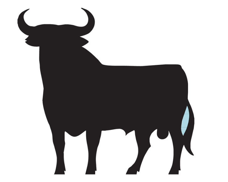 Toro de Osborne, objeto del proyecto 'Cielo español', de Ismael Teira. Imagen cortesía del artista.
