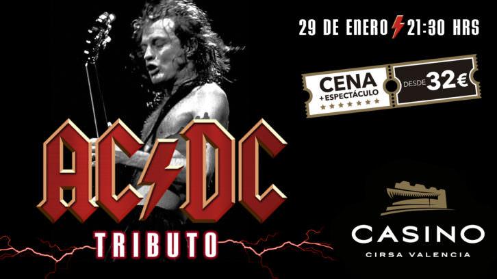 Tributo a AC/DC. Imagen cortesía de Casino Cirsa Valencia.