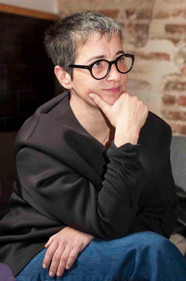 Rebeca Plana, en un momento de la entrevista. Fotografía: Fernando Ruiz.