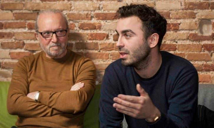 Álex Marco y Paco Sebastiá, durante la charla. Fotografía: Fernando Ruiz.