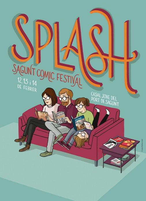 Cartel de Splash Sagunt Comic Festival, obra de Laura Pacheco.