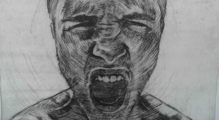 Dibujo de Diocles Iaime, tercera mención especial del jurado de DKV Fresh Art 2014.