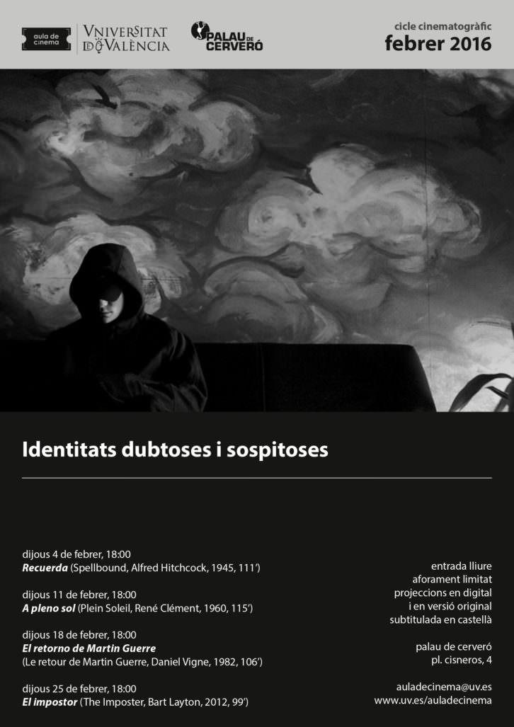 Cartel del ciclo 'Identidades dudosas y sospechosas'. Imagen cortesía de los organizadores.