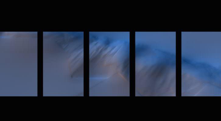 """'Tríptico en Tiempo, Silencio, Fuga y Realidad"""", de Jaime de los Ríos. Imagen cortesía de Playtime."""